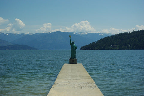 View of Lake Pend Oreille from Sandpoint, ID