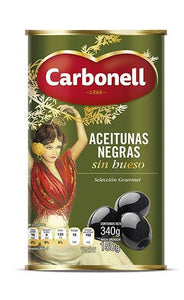 Aceituna negra s/hueso carbonell 340 gr pza
