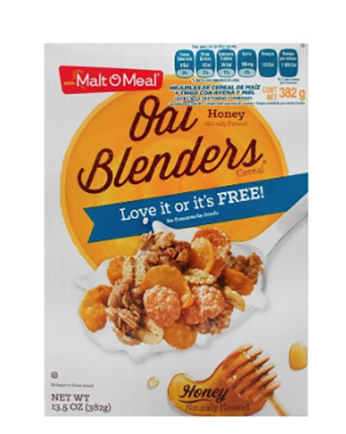 Cereal m&b honey and oat blenders w/almonds 382gr pza