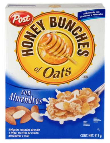 Cereal post honey bunches of oats almendras 411gr pza