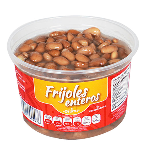 Frijoles enteros dr. Farms 500gr pza