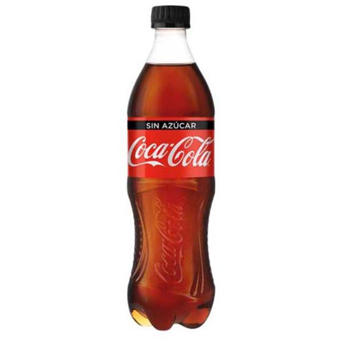 Refresco coca cola sin azucar 600ml pza