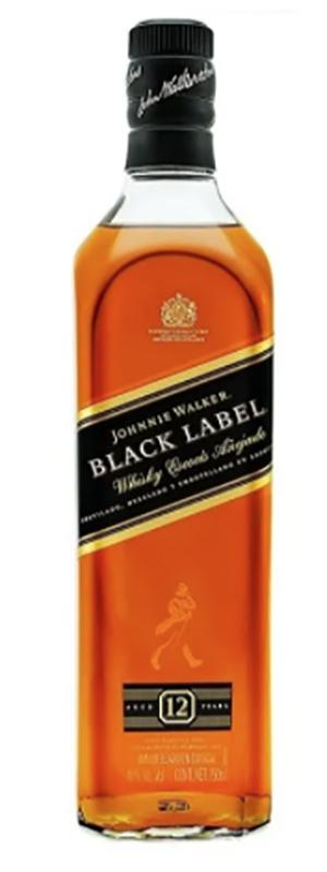 Whisky j walker etiqueta negra 750 ml pza