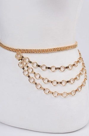 Gold Layered Gold Chain Belt
