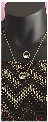 Black and Gold Layered Necklace
