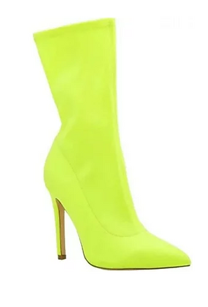 Neon Yellow Booties