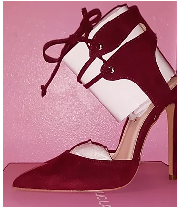 Burgundy Tie Up Pumps