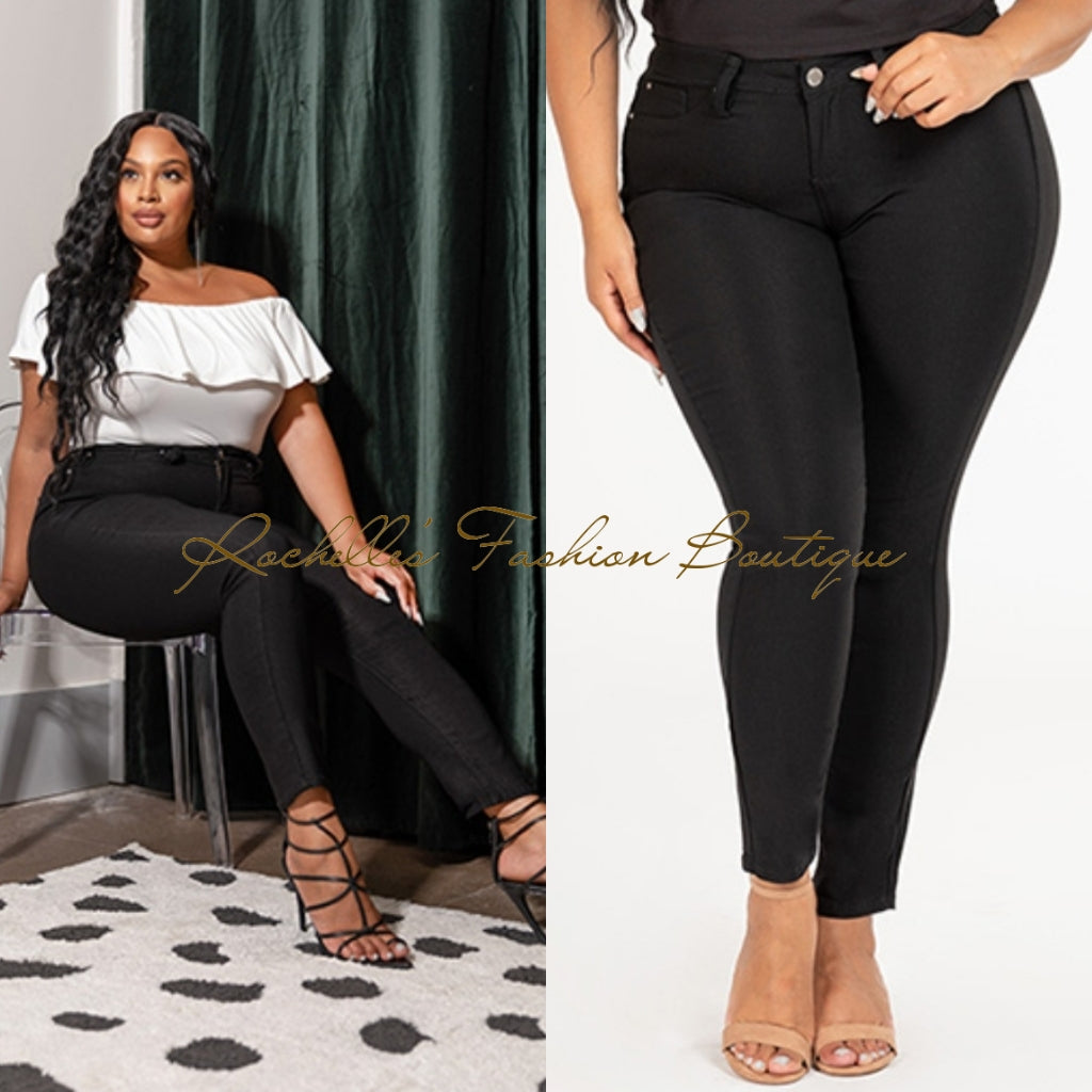 Black Top High Rise Strength Pants