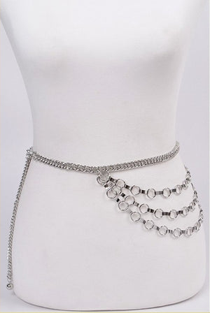 Silver Layered Gold Chain Belt