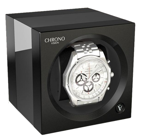 : Chronovision one chrome black high gloss single watch winder