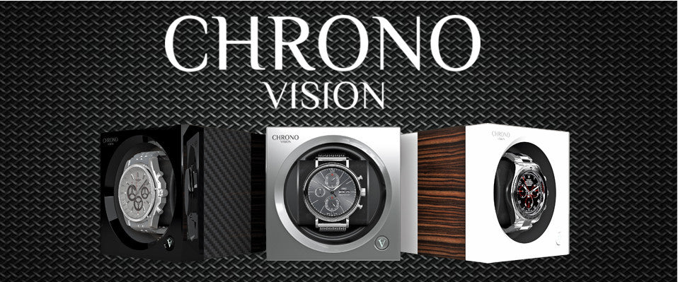 Chronovision One Watch Winder Collection carbon fiber chrome Macassar white silk
