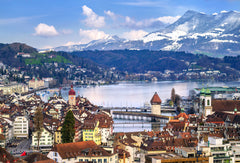 Elevated view of Lucerne, Switzerland