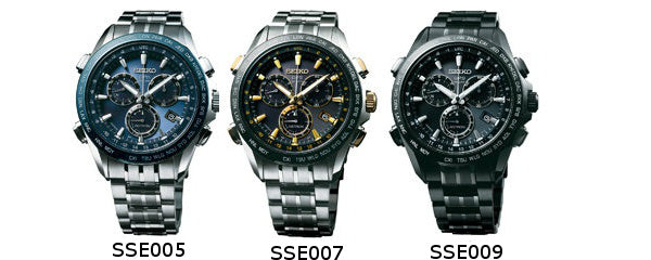 Different models of Seiko Astron