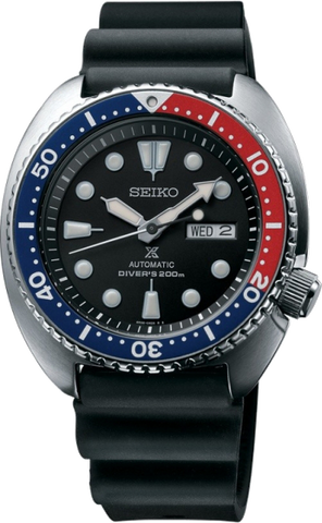 Seiko Prospex Dive Watch SRP 779 blk dial Pepsi bezel Stainless Steel w blk Rubber band