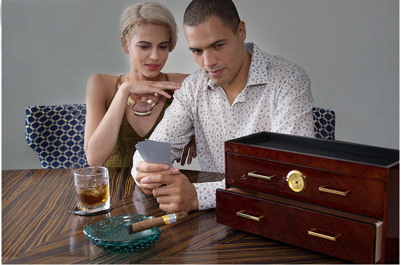Wolf Meridian Macassar Humidor Editorial Pic