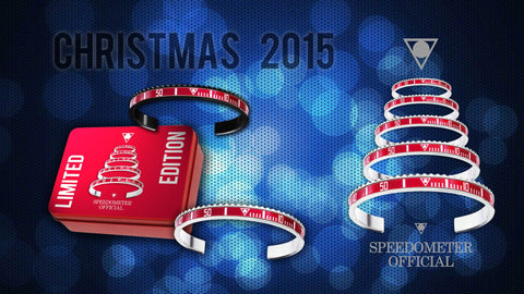 Speedometer Official - Christmas Bangle Set - Steel Red