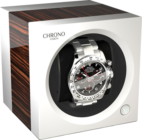 Chronovision One - Macassar High Gloss / White Silk | 70050/101.19.12