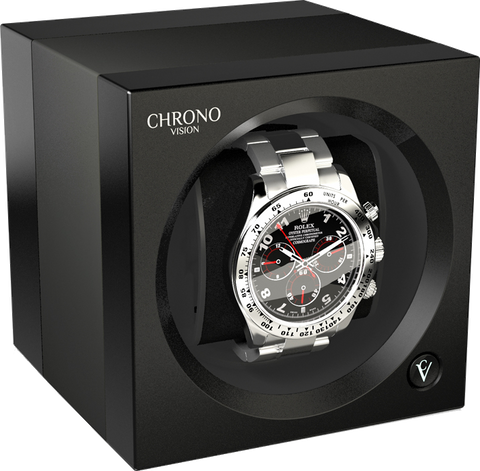 Chronovision One - Titanium Anodized / Black Silk | 70050/101.29.10