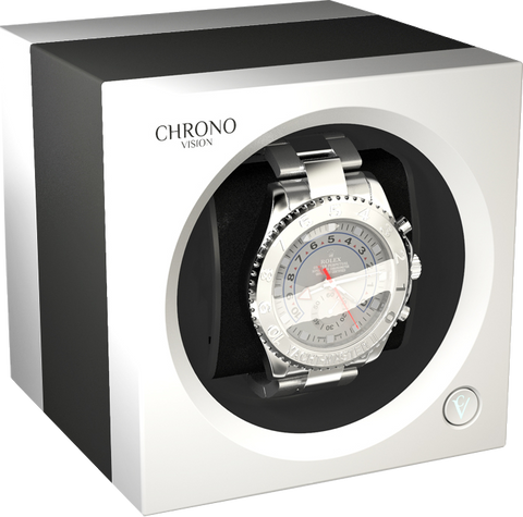 Chronovision One - Titanium Anodized  / White Silk | 70050/101.29.12