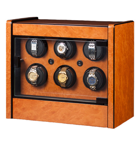 Orbita - Avanti 6 Burlwood | Programmable Watch Winder