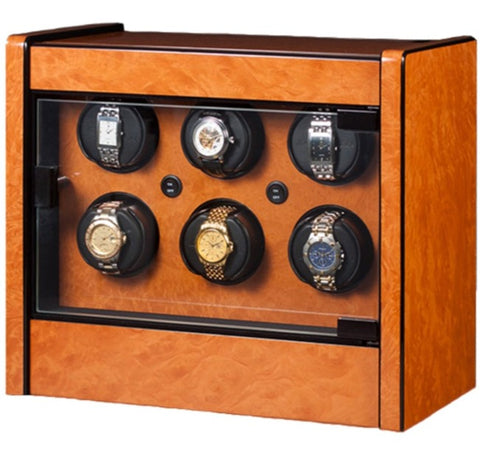 Orbita - Avanti 6 Rotorwind Watch Winder | Burlwood