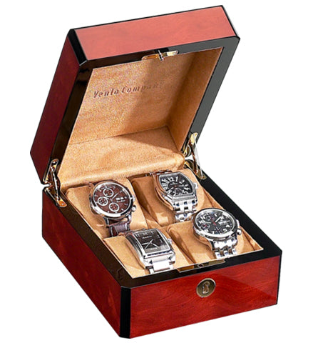 Venlo - 4 Watch Storage Case | Burlwood