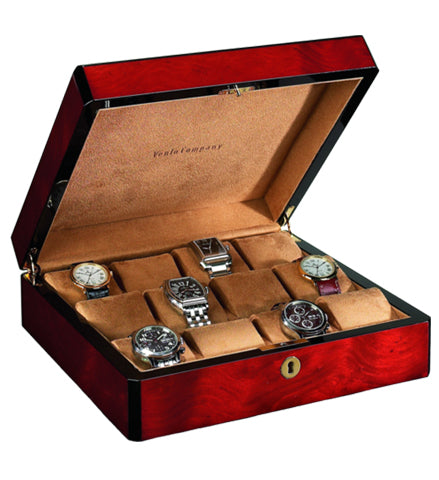 Venlo - 12 Watch Storage Case | Burlwood