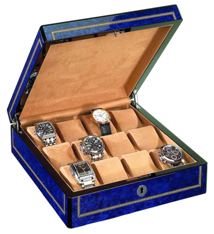 Venlo - 12 Watch Storage Case | Blue