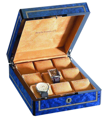 Venlo - 9 Watch Storage Case | Blue