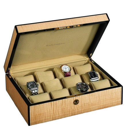 Venlo - 12 Watch Storage Case | Blonde