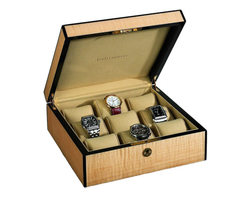 Venlo - 9 Watch Storage Case | Blonde