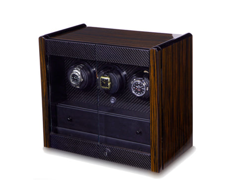 Orbita - Avanti 3 Macassar/Carbon | Programmable Watch Winder