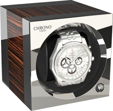 Chronovision One - Macassar High Gloss / Chrome | 70050/101.19.15