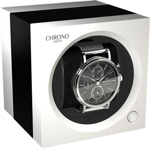 Chronovision One - Black Anodized / White Silk | 70050/101.31.12