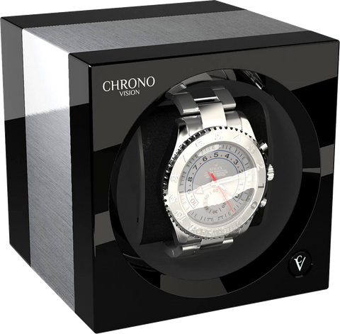 Chronovision One - Brushed Aluminium  / Black High Gloss | 70050/101.30.11