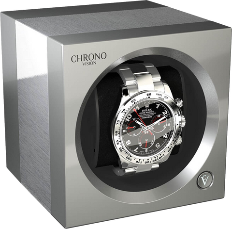 Chronovision One - Brushed Aluminium / Chrome Silk | 70050/101.30.14