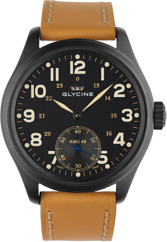 Glycine - KMU - 48mm Big Second 6 Hours | Ref. 3906.99 AT LB33