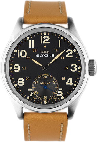 Glycine - KMU - 48mm Big Second 6 Hours | Ref. 3906.19 AT LB33