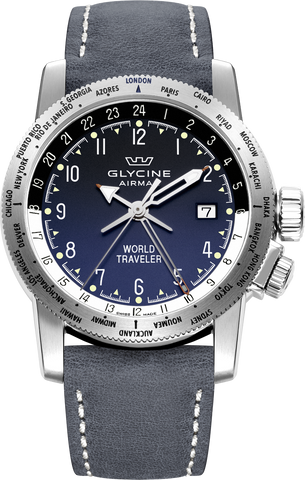 Glycine - Airman World Traveler | Ref. 3939.18 LB8B