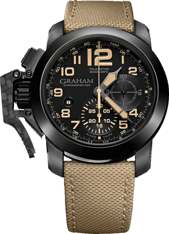 "Graham - Chronofighter Oversize ""Black Sahara"" 