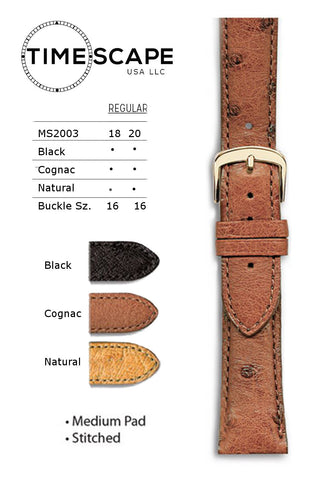 Hadley Roma - Ostrich Watch Band - MS2003