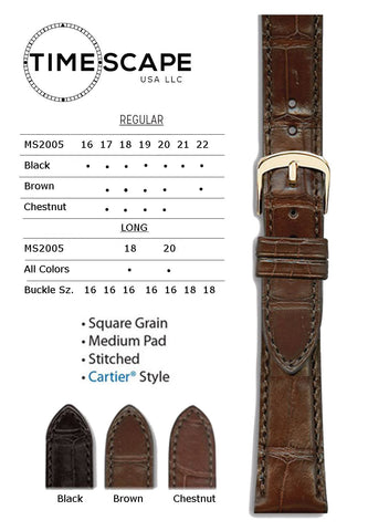 Hadley Roma - Alligator Watch Band - MS2005