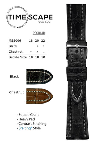 Hadley Roma - Alligator Watch Band - MS2006