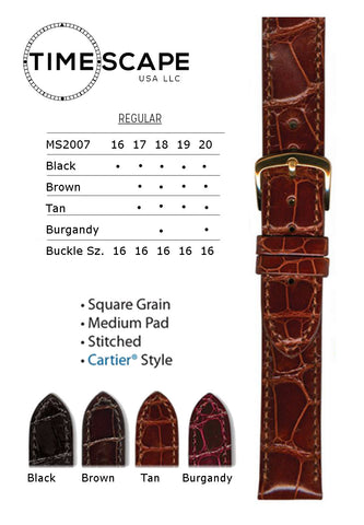 Hadley Roma - Alligator Watch Band - MS2007