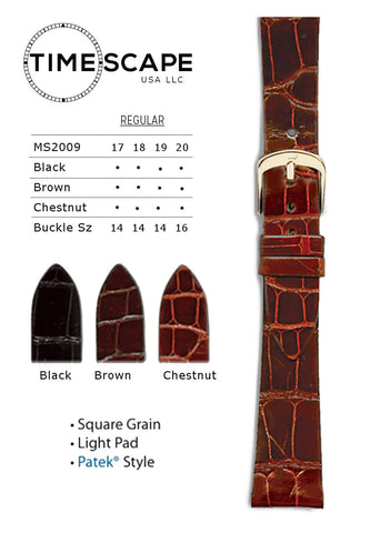 Hadley Roma - Alligator Watch Band - MS2009