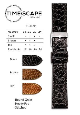 Hadley Roma - Alligator Watch Band - MS2010