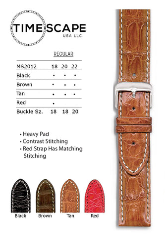 Hadley Roma - Crocodile Watch Band - MS2012