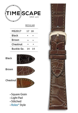 Hadley Roma - Alligator Watch Band - MS2017