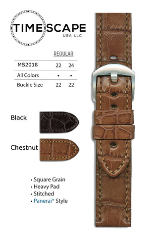 Hadley Roma - Alligator Watch Band - MS2018