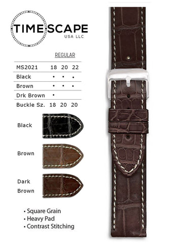 Hadley Roma - Alligator Watch Band - MS2021
